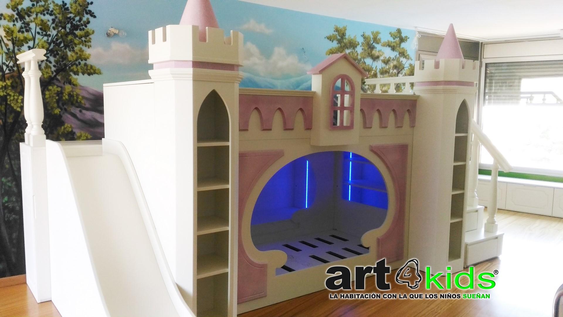 Cama castillo princesa