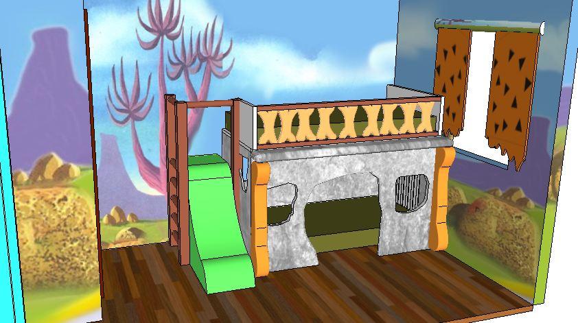 boceto habitación picapiedras