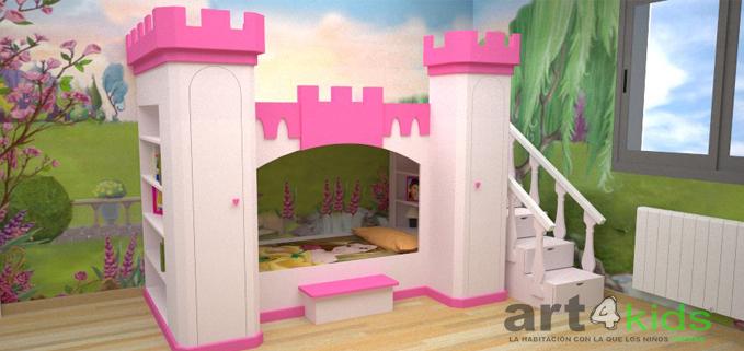 Cama castillo de princesa mod: ELENA