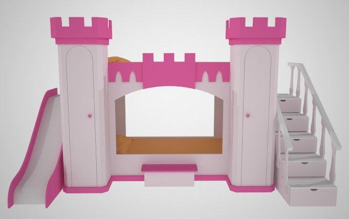Cama castillo de princesa 2