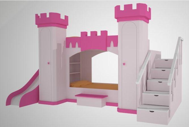 Cama castillo de princesa 3