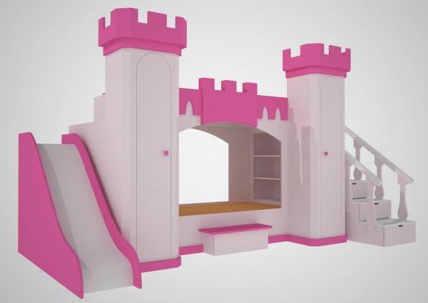 Cama castillo de princesa