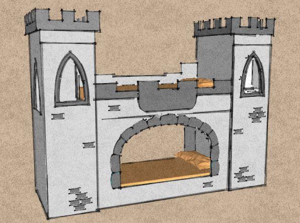 Litera castillo infantil (boceto)