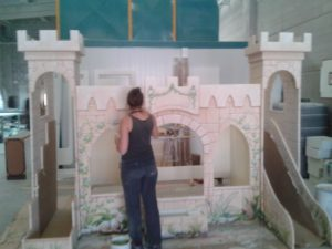 Cama castillo de princesa para niña- Art4kids-2