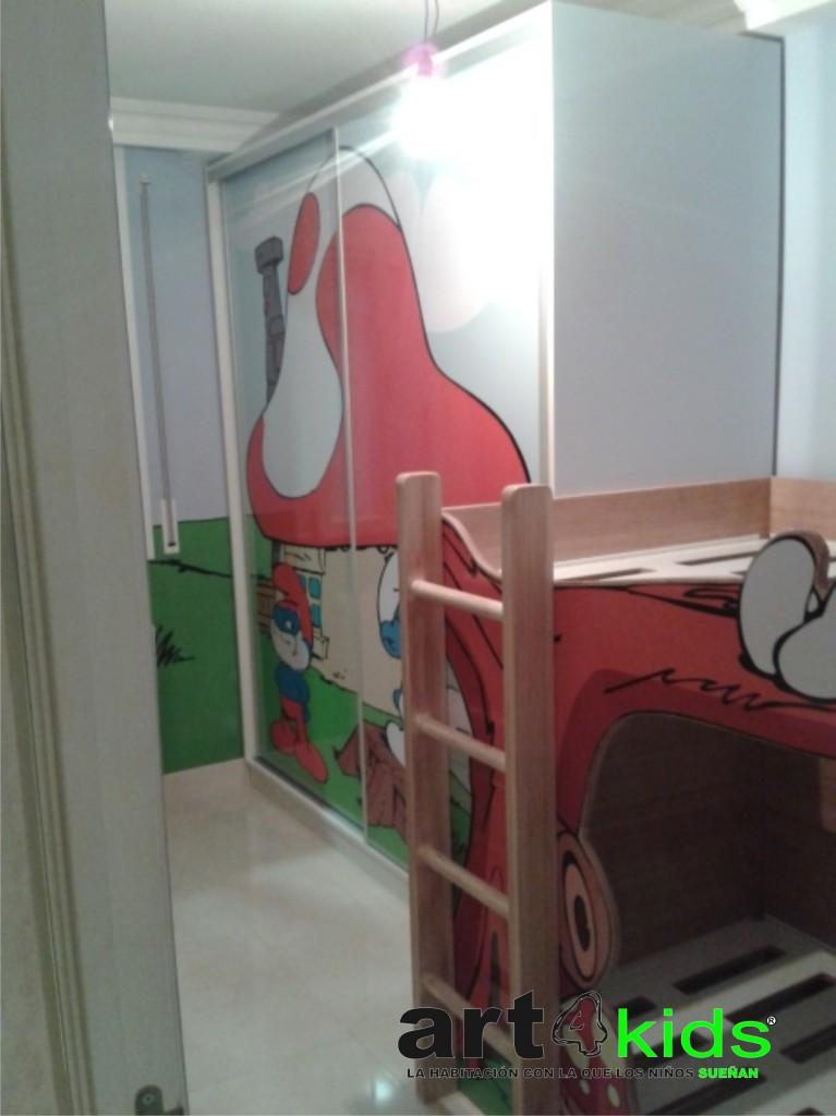 habitacion pitufos