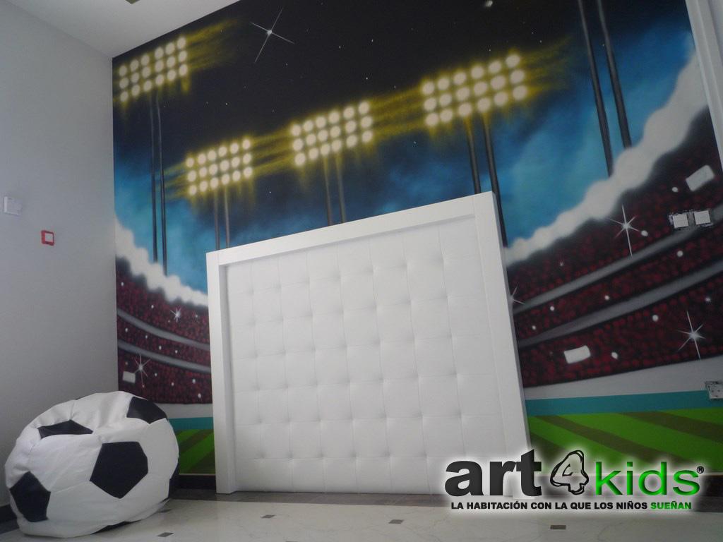 habitacion tematica de futbol