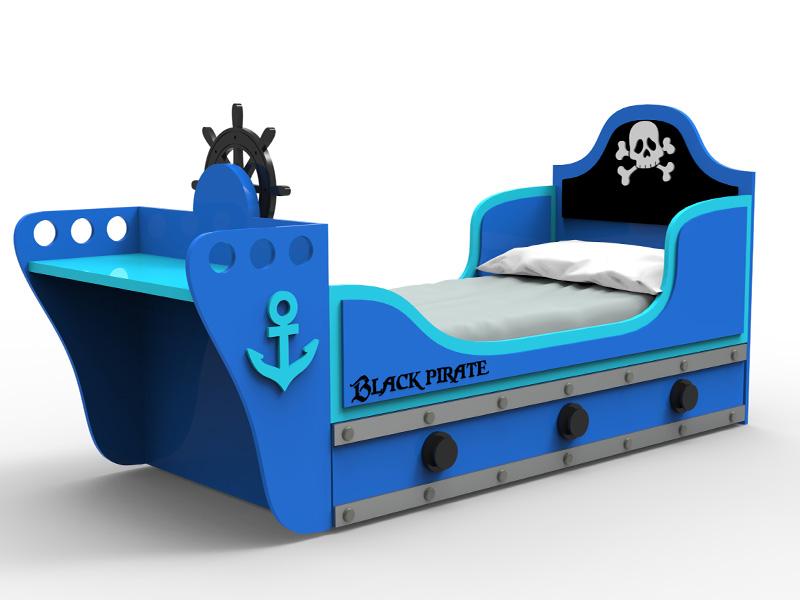 Cama pirata para niños