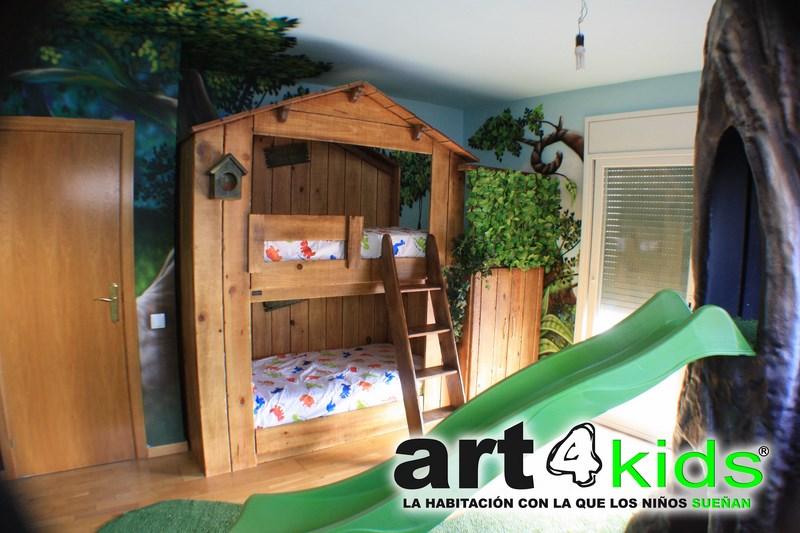 Habitacion tematica decoracion selva (1)