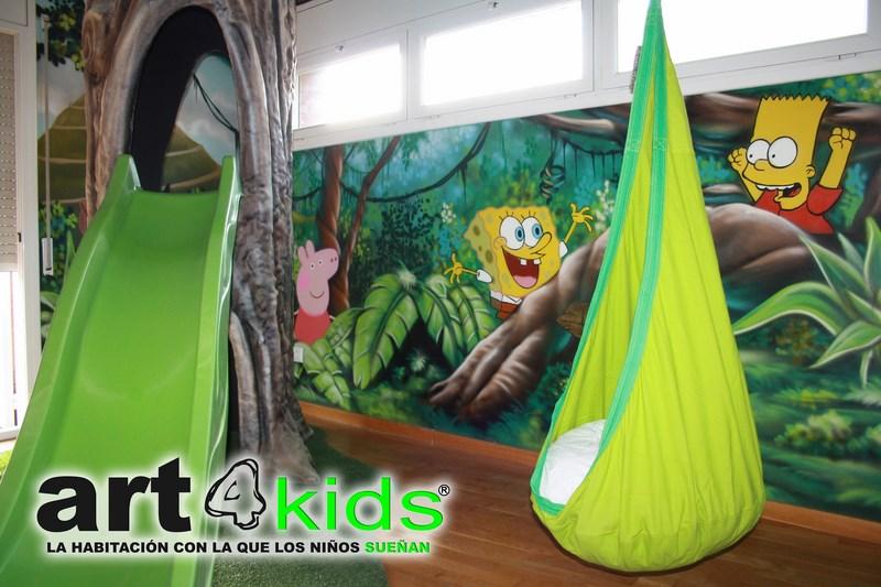 Habitacion tematica decoracion selva (2)