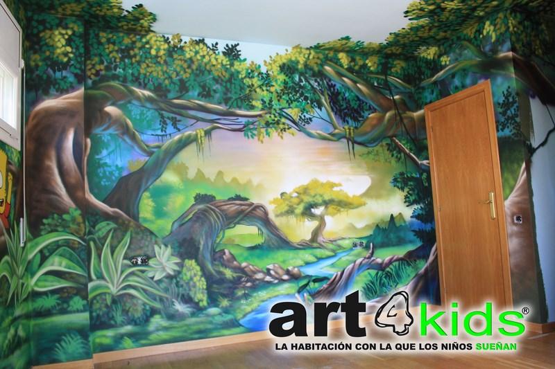 Habitacion tematica decoracion selva (3)