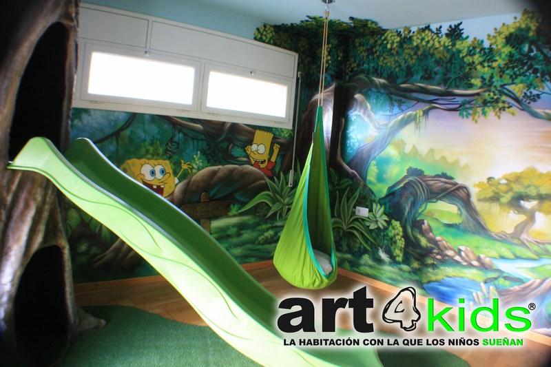 Habitacion tematica decoracion selva (6)