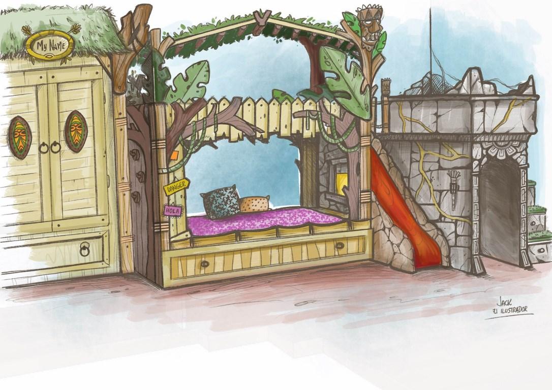 dormitorio-tematico-infantil-boceto