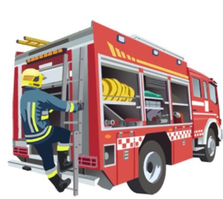 Litera camión de bomberos