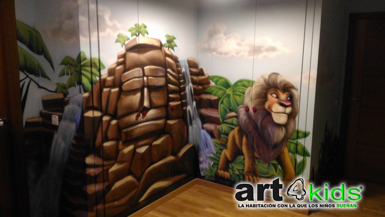 mural-pintado-en-armario