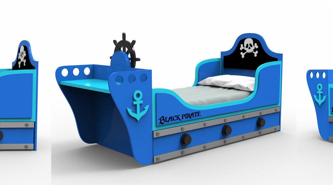 Cama pirata infantil