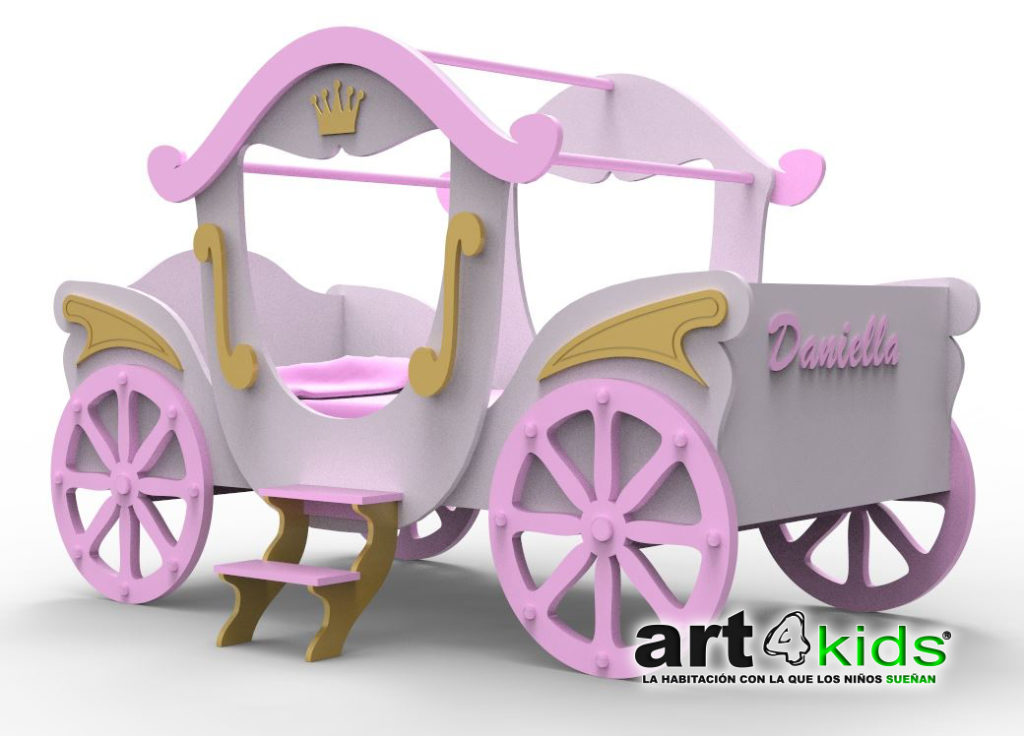 Carroza de princesa 3d