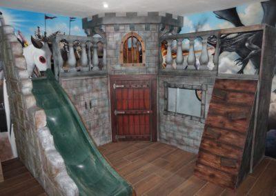 Habitación de juegos con castillo