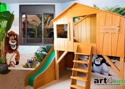 Habitación temática madagascar