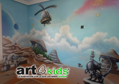MURAL GRAFITTI ESPACIAL