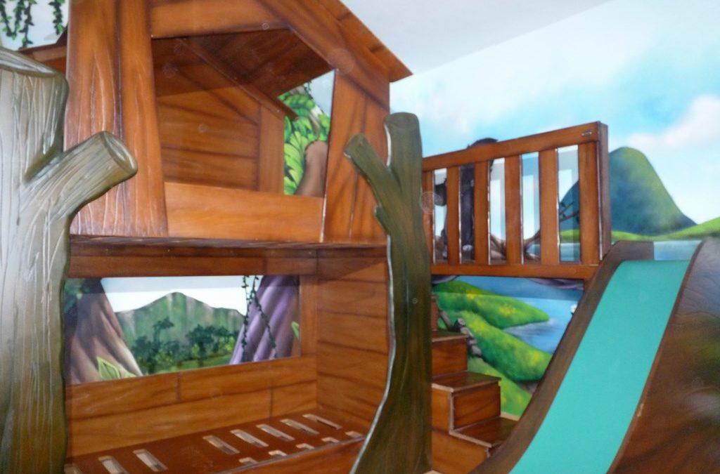Habitación temática con cabaña