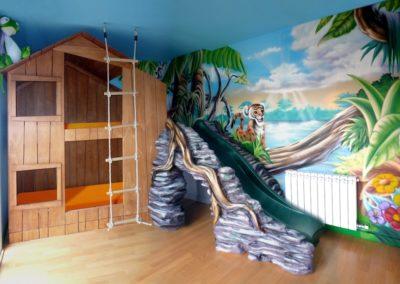 Habitación temática la selva de Julio